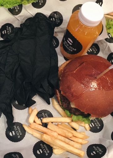 черные перчатки black star burger