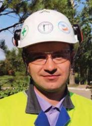Каска с наклейками Березовская ГРЭС Юнипро