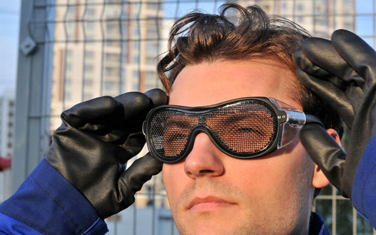 Сетка вместо линзы защитные очки РОСОМЗ