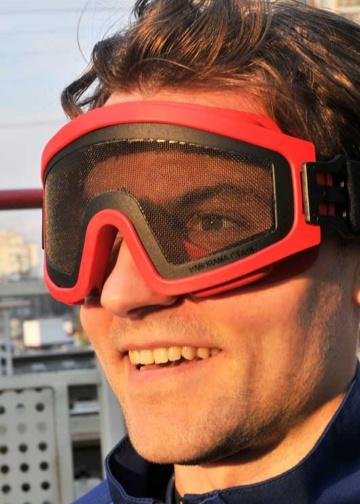 Очки защитные закрытые с прямой вентиляцией «ЗП2 Панорама Сталь»