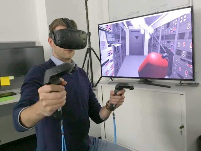VR тренажер эвакуации из зоны ЧС Химзащита