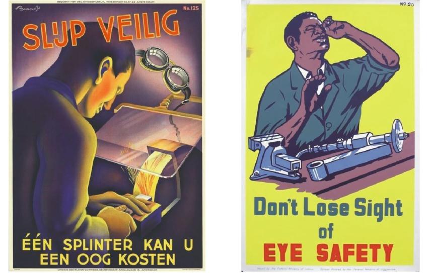 Плакаты по охране труда разных стран