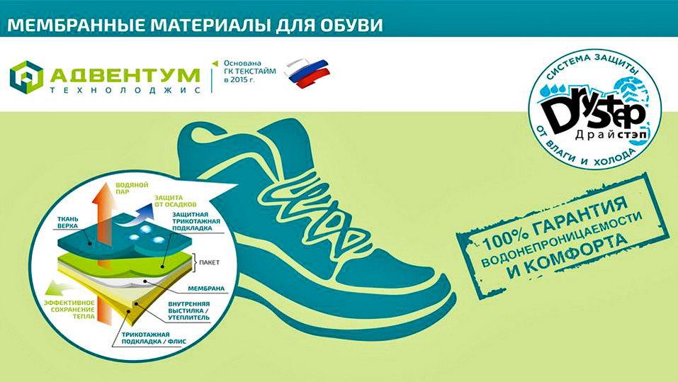 Мембранные материалы в обуви для работы и спорта