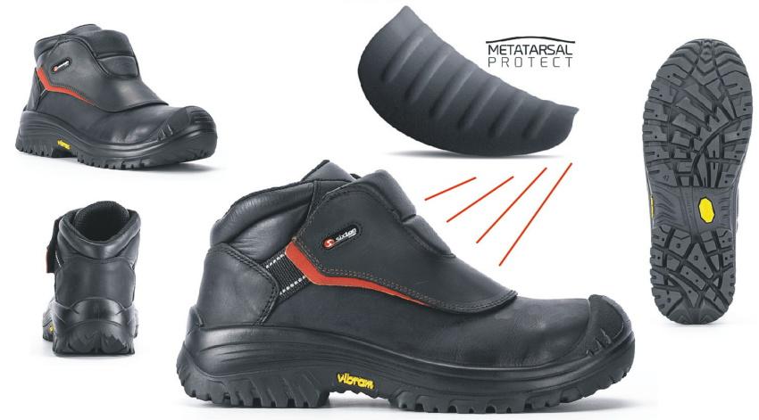 Защитная обувь монтажников металлоконструкций, резчиков металла, сварщиков